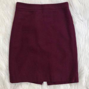 J. Crew Women's Size 0 The Pencil Skirt Wool Blend